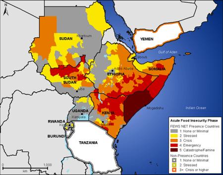 Famine Early Warning Systems Network - USAID - grafika w domenie publicznej
